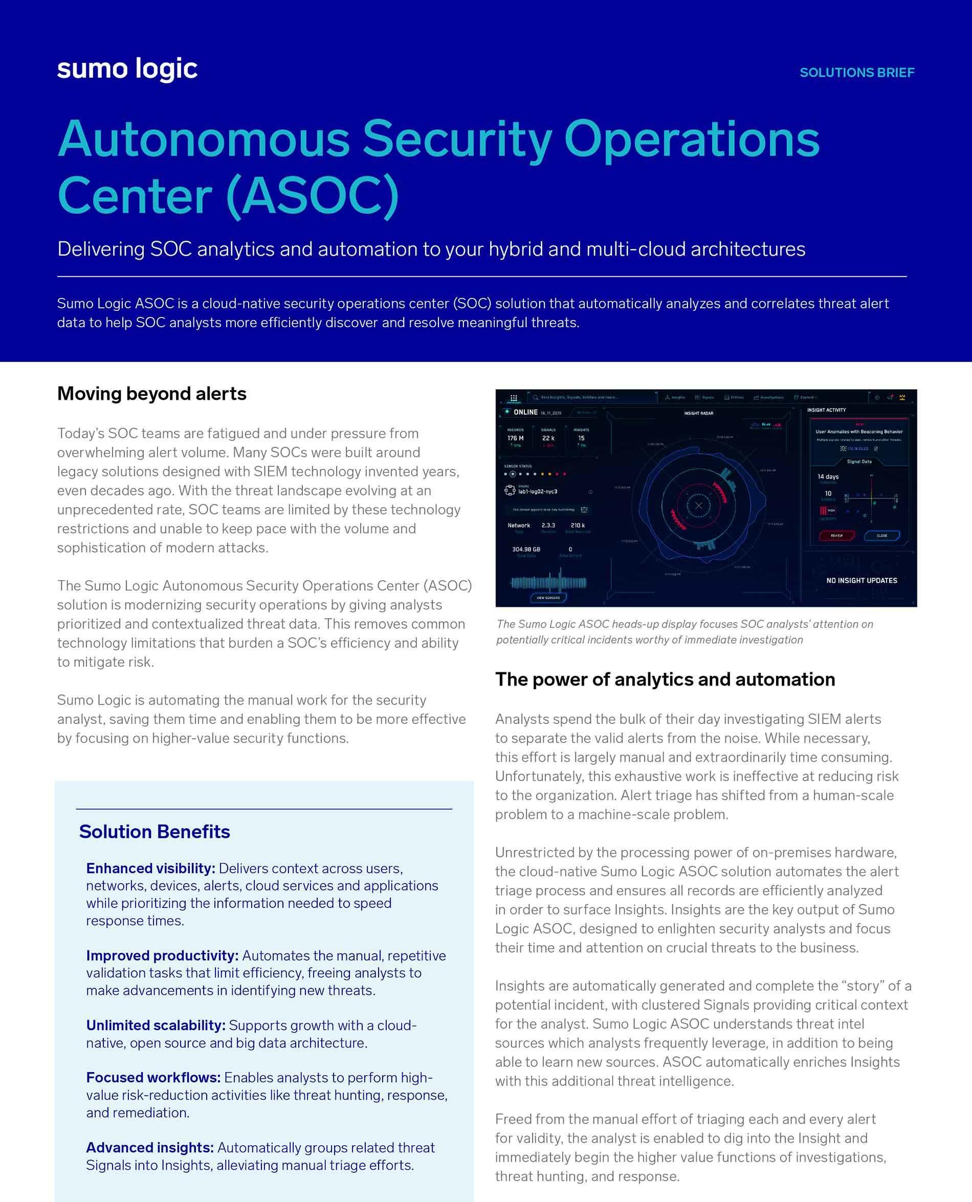 Autonomous Security Operations Center (ASOC)