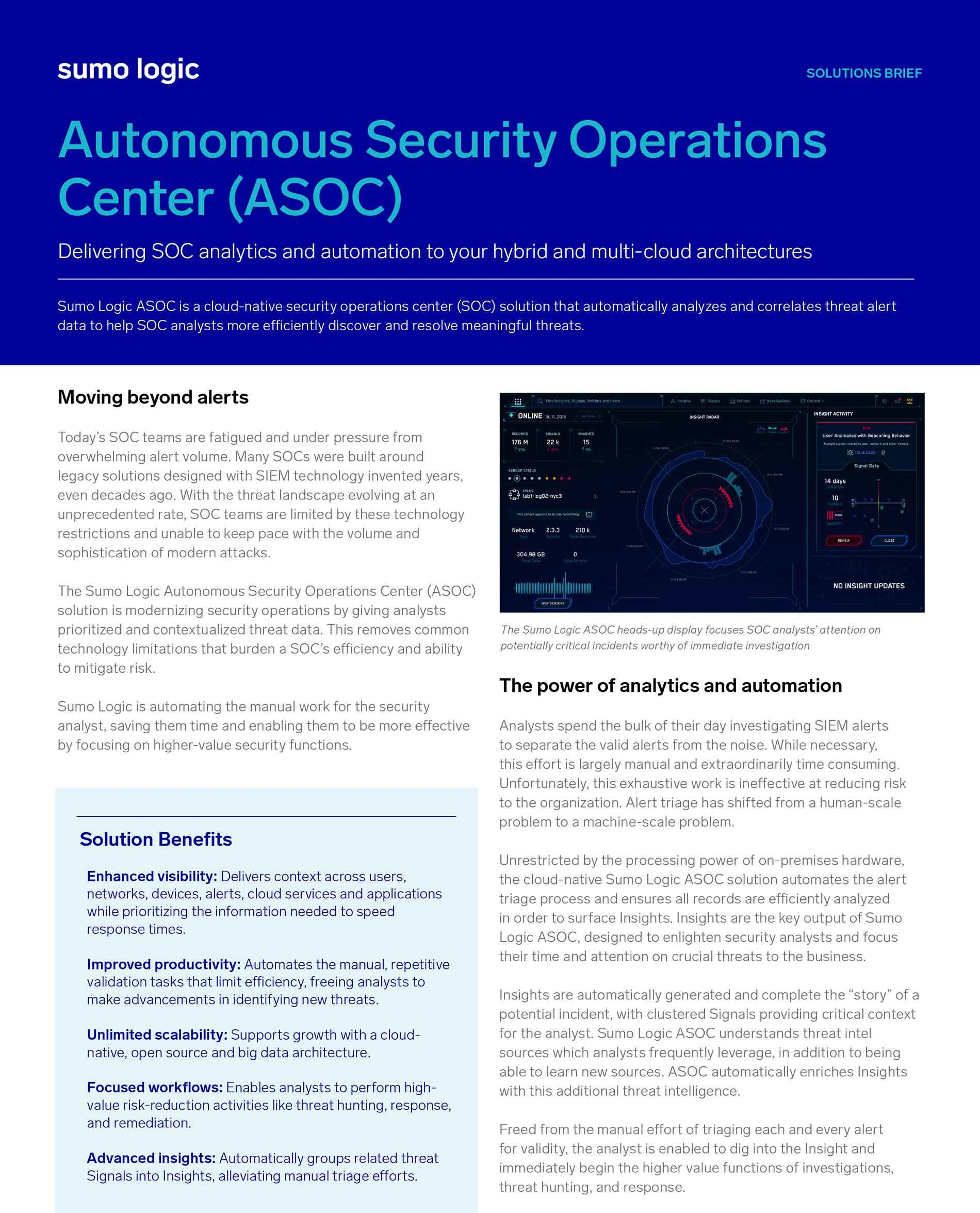 Autonomous Security Operations Center (ASOC)