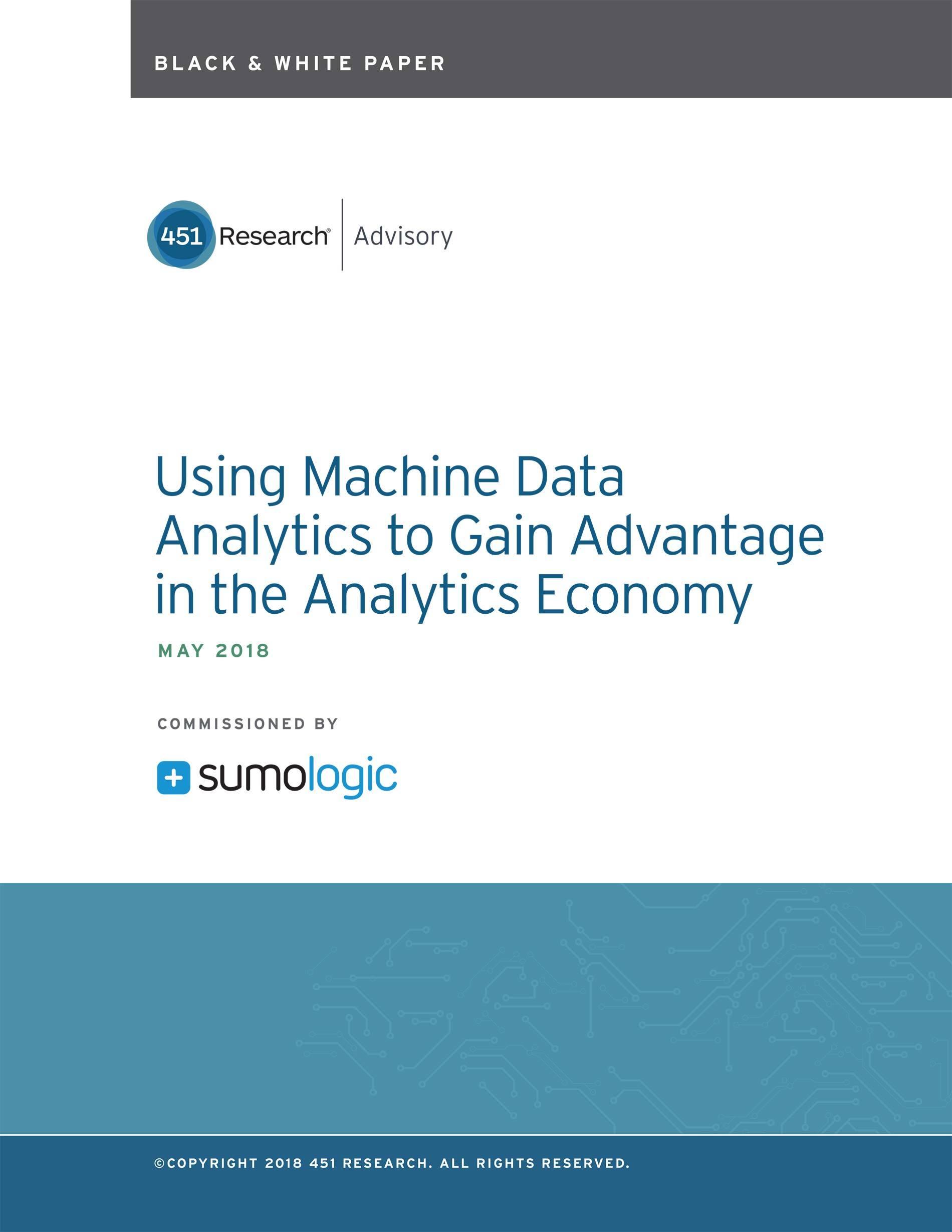 Using Machine Data Analytics to Gain Advantage in the Analytics Economy
