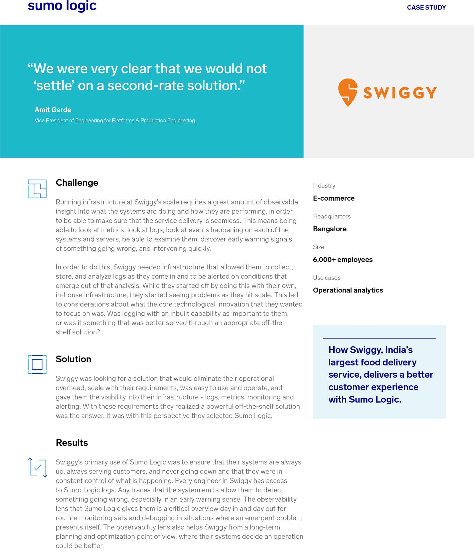 Swiggy Case Study